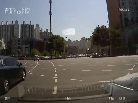 교차로 앞지르기 충돌사고