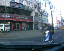 신호위반 오토바이와 직좌신호 유턴차량 사고